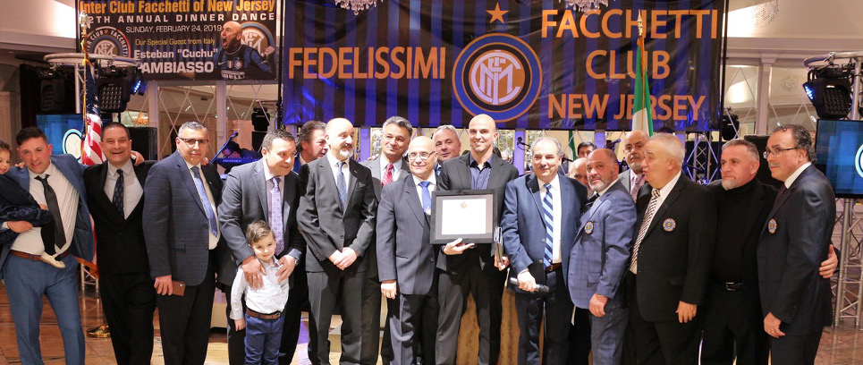 [CAMBIASSO IN NEW JERSEY FOR INTER CLUB CELEBRATIONS]