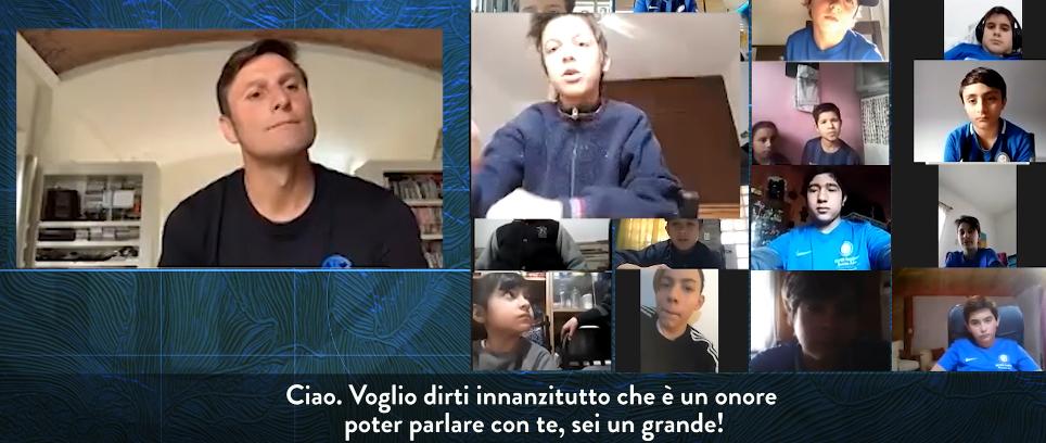 [Inter Campus con Zanetti, Adriano ed Eto'o]